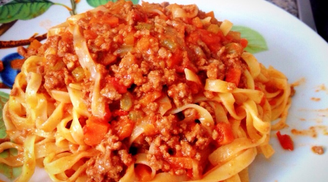 Italian Cusine – Tagliatelle with Ragù Bolognese